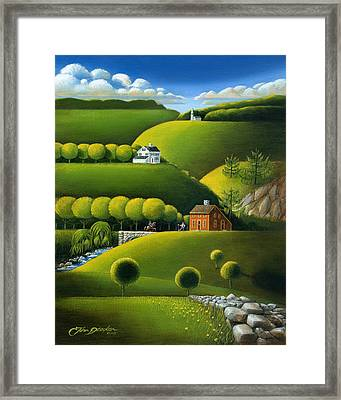 Foothills Of The Berkshires Framed Print by John Deecken