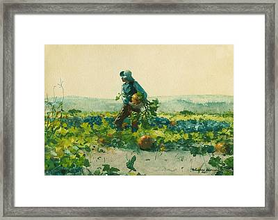 For To Be A Farmer's Boy Framed Print by Winslow Homer