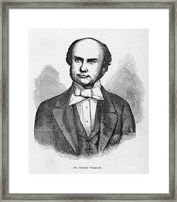 Forbes Winslow, English Psychiatrist Framed Print by Middle Temple Library