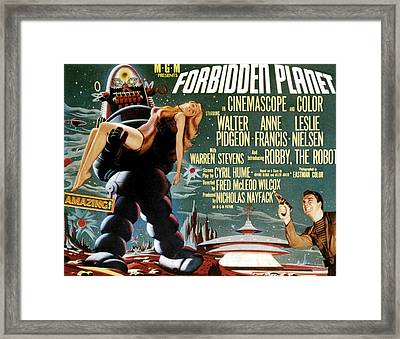 Forbidden Planet, Left Robby The Robot Framed Print by Everett