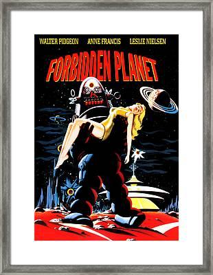 Forbidden Planet, Robby The Robot Framed Print by Everett