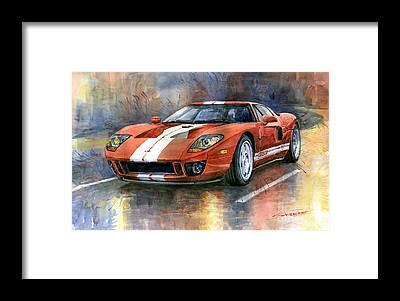 American Car Framed Prints