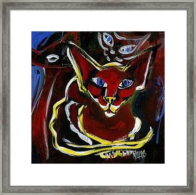 Foreign White Cat Framed Print by Leanne WILKES