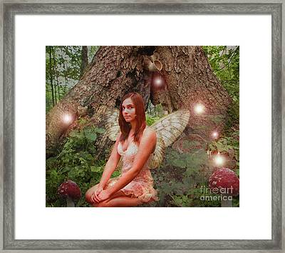 Forest Fairy Framed Print by Patricia Ridlon