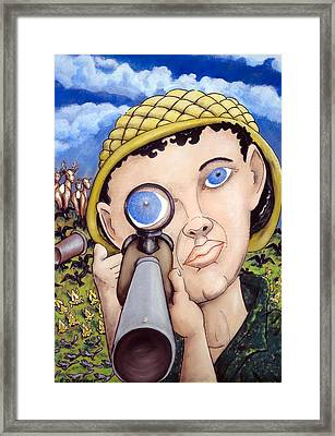 Forest Frenzy Framed Print by Eddie Sargent