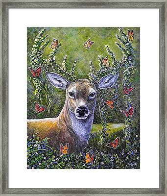 Forest Monarch Framed Print by Gail Butler