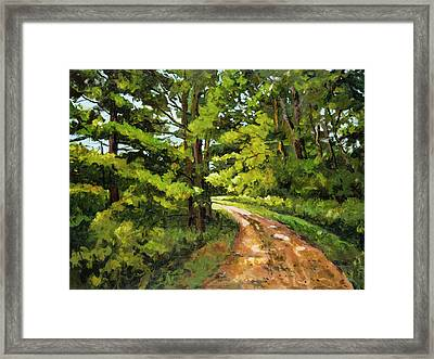Forest Pathway Framed Print by Alexandra Maria Ethlyn Cheshire