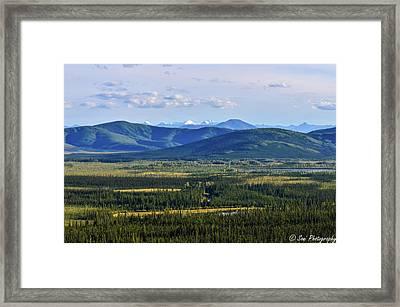 Forested Rolling Hills, Alaska, Usa Series Framed Print
