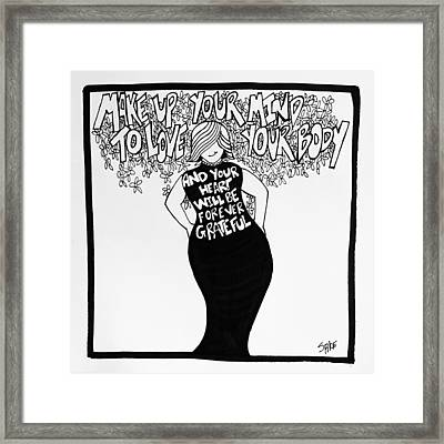 Forever Grateful Framed Print by Sara Young