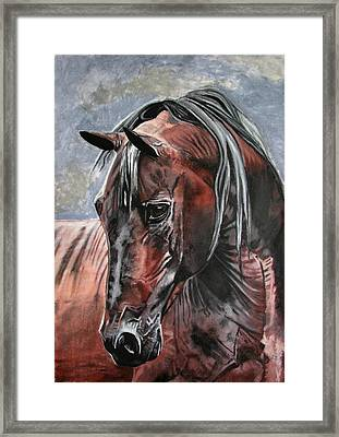 Framed Print featuring the painting Forever by Melita Safran