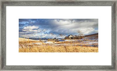 Forgotten Farmhouse Framed Print by Theresa Tahara