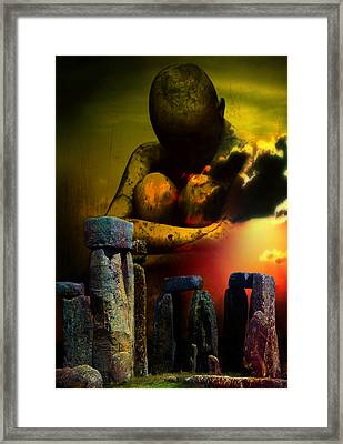 Framed Print featuring the digital art Forgotten Past by Shadowlea Is
