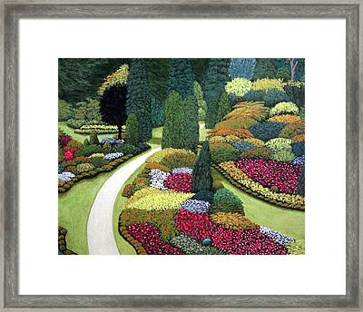 Formal Gardens Framed Print by Frederic Kohli