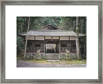 Forrest Shrine, Japan Framed Print