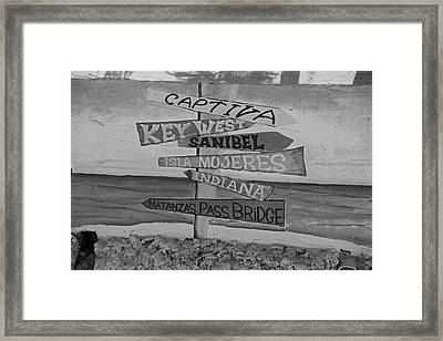 Fort Myers Beach Mural Framed Print