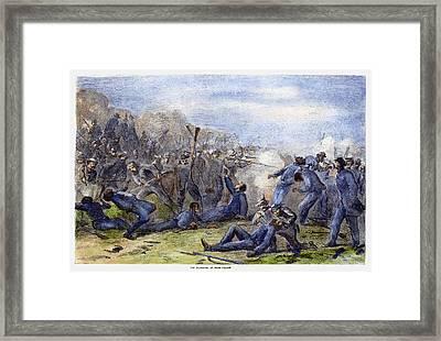 Fort Pillow Massacre, 1864 Framed Print by Granger