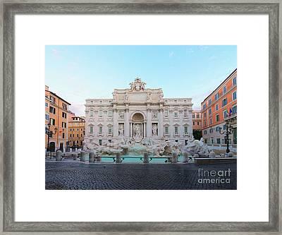 Fountain Di Trevi And Sunrise, Rome Framed Print