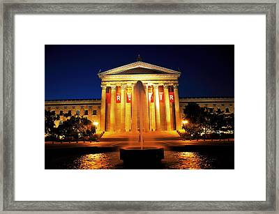 Fountain Of Art Framed Print by Andrew Dinh