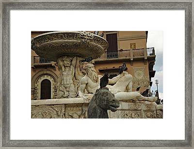 Fountain Of Orion Framed Print by Cendrine Marrouat