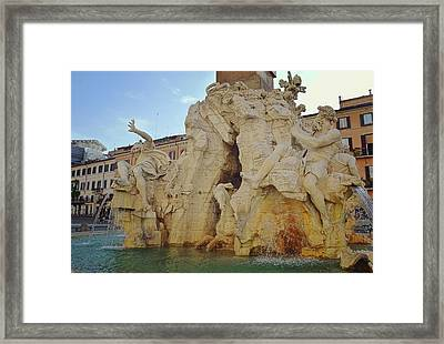 Four Rivers Fountain Framed Print by JAMART Photography
