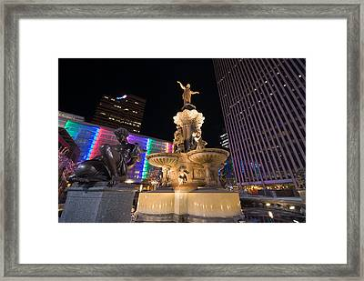 Fountain Square Framed Print