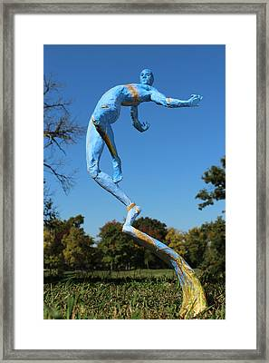 Foxtails In The Breeze Photographed Outside Framed Print by Adam Long