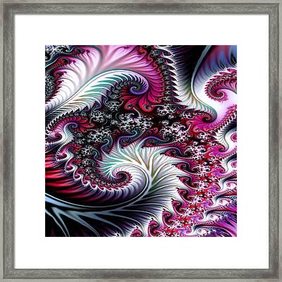 Fractal Pinks Framed Print by Digital Art Cafe