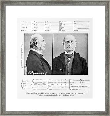 Francis Galton, English Polymath Framed Print