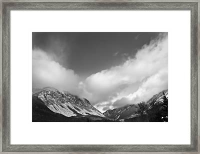Franconia Notch Framed Print
