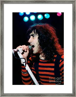 Frank Dimino Of Angel - Cow Palace, S F 5-6-80 Framed Print by Daniel Larsen
