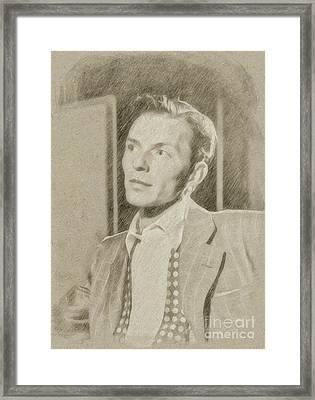 Frank Sinatra Hollywood Singer And Actor Framed Print