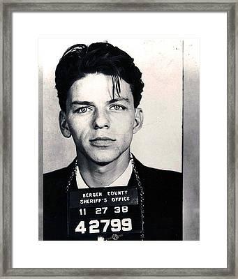Frank Sinatra Mug Shot Vertical Framed Print by Tony Rubino