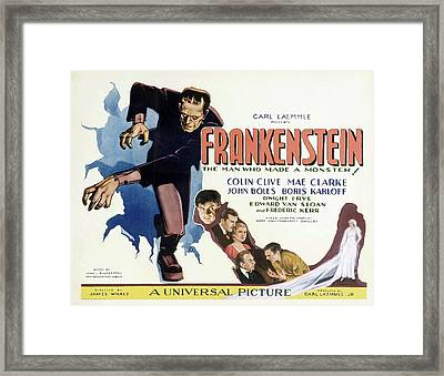 Frankenstein 1931 Framed Print by Mountain Dreams
