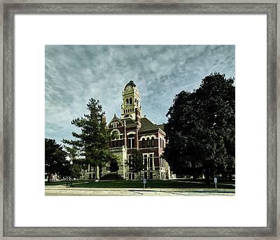 Franklin County Courthouse - Hampton Iowa Framed Print