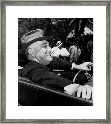 Franklin D. Roosevelt, U.s. President Framed Print by Everett