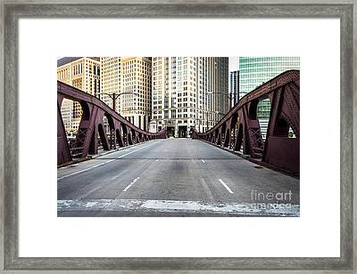 Franklin Orleans Street Bridge Chicago Loop Framed Print by Paul Velgos