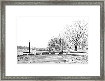 Franklin Park Framed Print by Takao Shinzawa