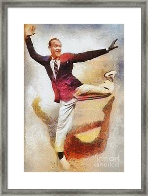 Fred Astaire, Vintage Hollywood Legend Framed Print by Mary Bassett