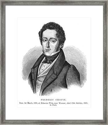 Frederic Chopin (1810-1849) Framed Print by Granger