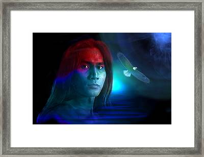 Framed Print featuring the digital art Free Spirit by Shadowlea Is