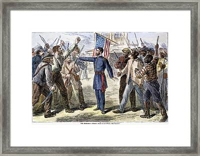 Freedmens Bureau, 1868 Framed Print