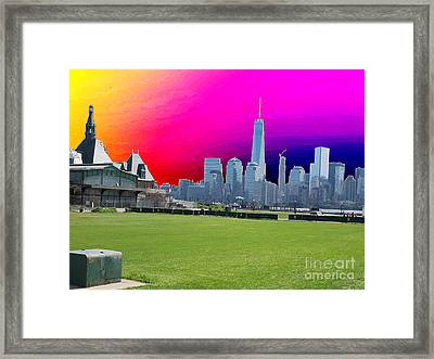 Freedom Tower Formerly World Trade  Centre Wtc New York Photo Taken On July 4 2015 Usa America's Bir Framed Print by Navin Joshi