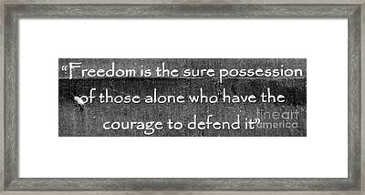 Freedom Framed Print by Unknown