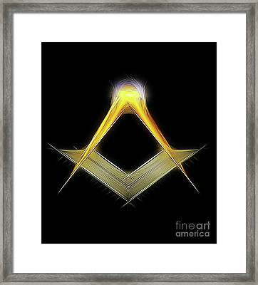 Freemason Symbol By Raphael Terra Framed Print