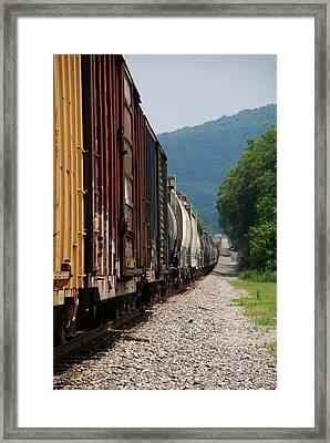 Freight Train Framed Print