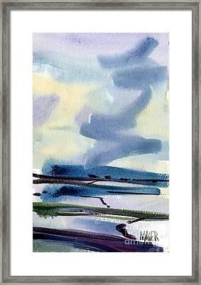 Fremont Salt Pans Framed Print
