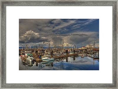 French Creek Marina Framed Print