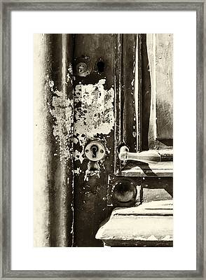 French Door Detail Framed Print by Georgia Fowler