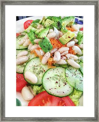 Freshly Made Salad Framed Print by Tom Gowanlock