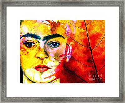 Frida Kahlo Framed Print by Daniel Janda